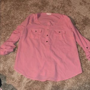Pink back button top